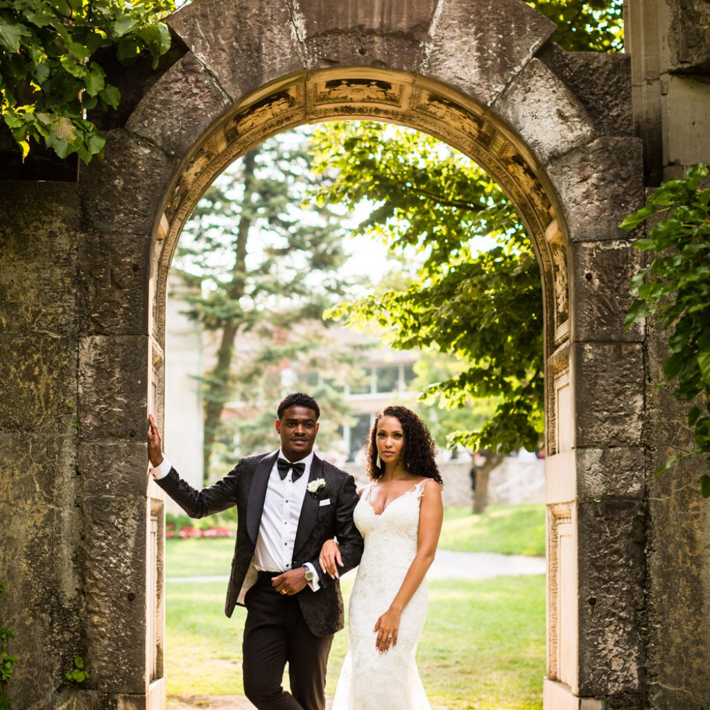 Bride and Groom at Guild Inn Estate by Ikonica Wedding Photography Toronto Wedding Photographer