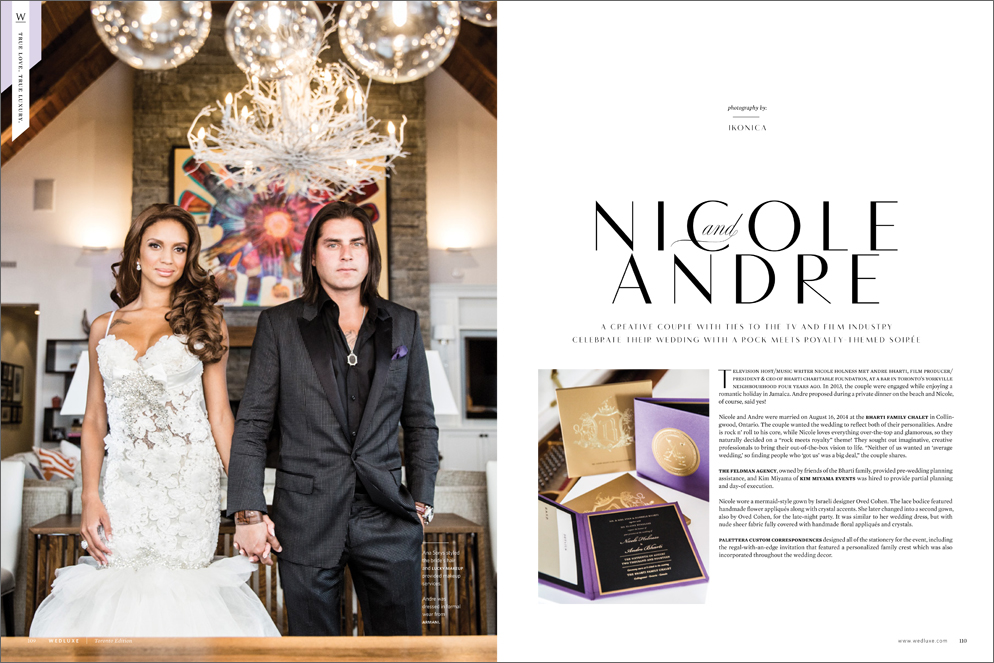 Nicole & Andre in Wedluxe Summer/Fall 2015